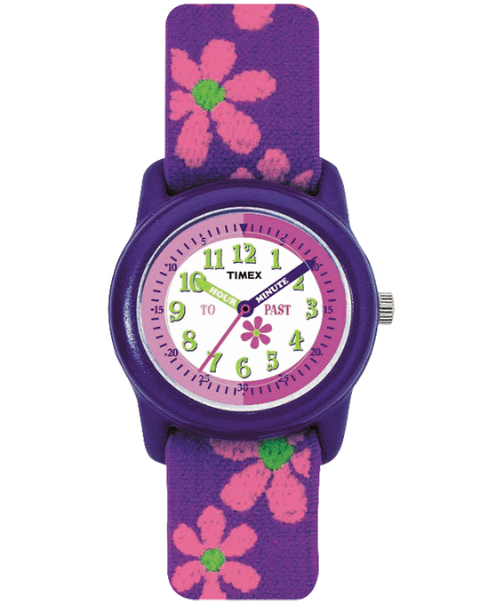 Girls Kids Analog 29mm Elastic Fabric Watch