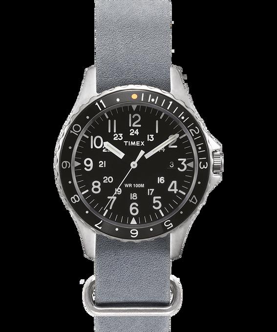 Zegarek Navi Ocean z kopertą 38 mm i dekatyzowanym paskiem skórzanym