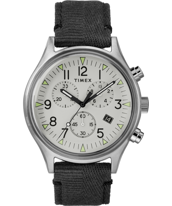 MK1 Chronograph Steel 42mm Fabric Strap Watch
