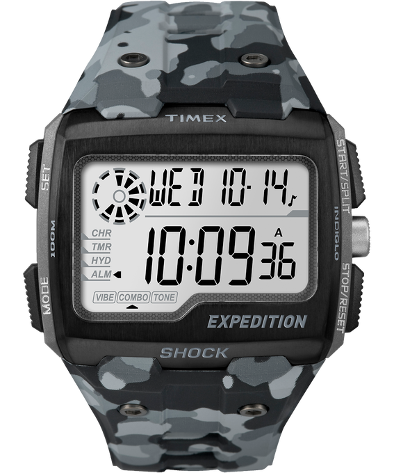 Expedition Grid Shock 50mm Resin Strap Watch