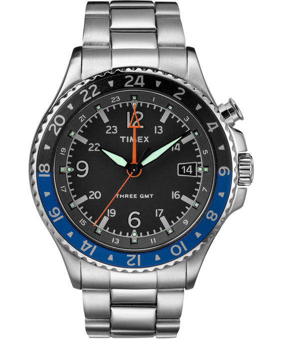 Allied Three GMT 43mm Stainless Steel Watch
