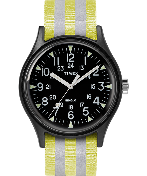 MK1 Aluminum 40mm Reflective Nylon Strap Watch