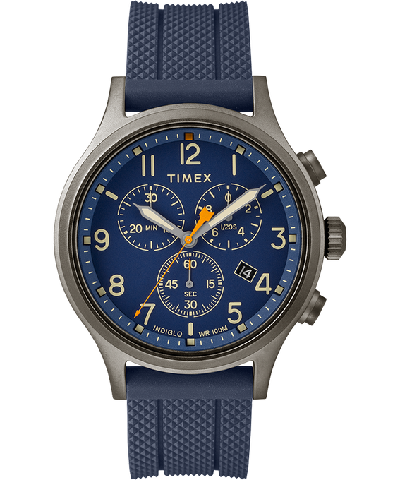 Allied Chronograph 42mm Silicone Strap Watch