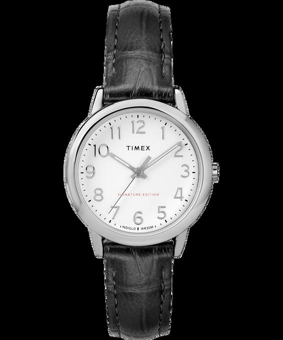 Zegarek Easy Reader z kopertą 30 mm i skórzanym paskiem