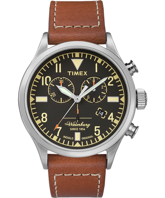 Waterbury Traditional Chronograph 42mm Leather Watch