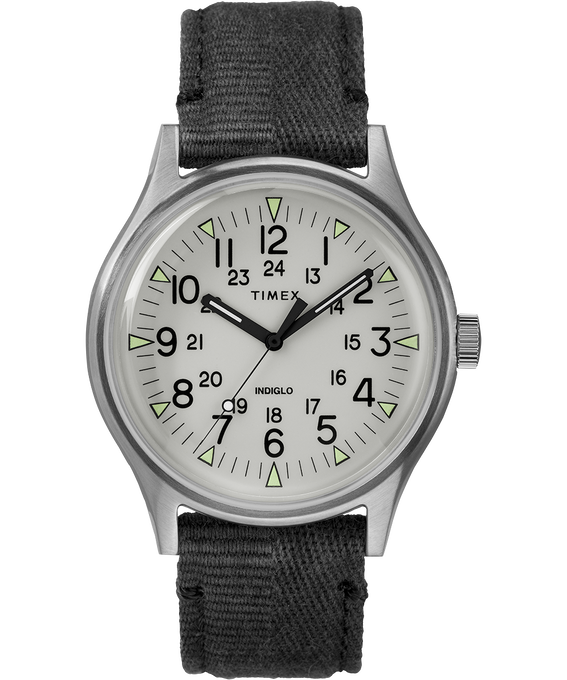 MK1 Steel 40mm Fabric Strap Watch