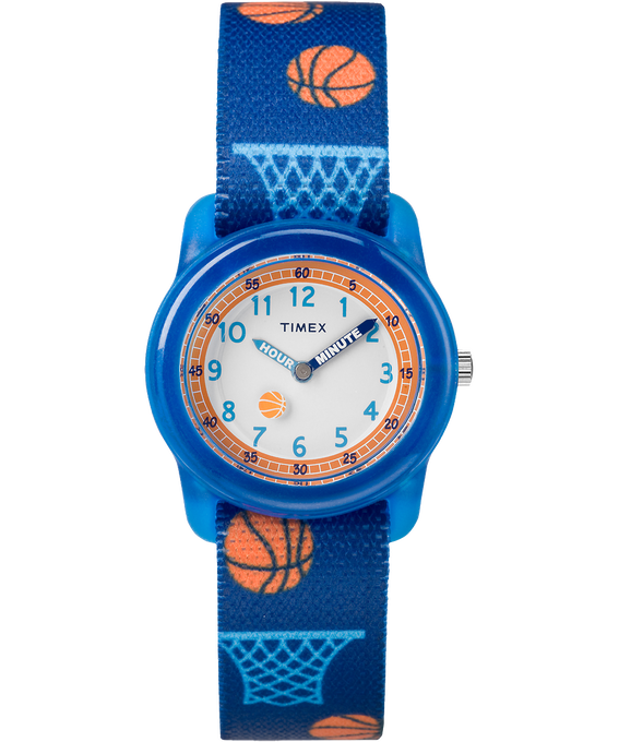 Kids Analog 34mm Fabric Strap Watch