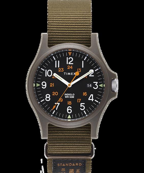 Zegarek Acadia z kopertą 40 mm i wojskowym paskiem z grogramu