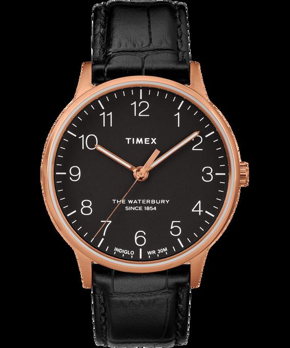 Waterbury 40mm Classic Leather Croco Strap Watch