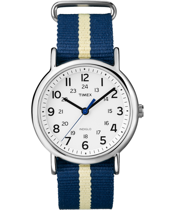 Weekender 38mm Nylon Stripe Strap Watch