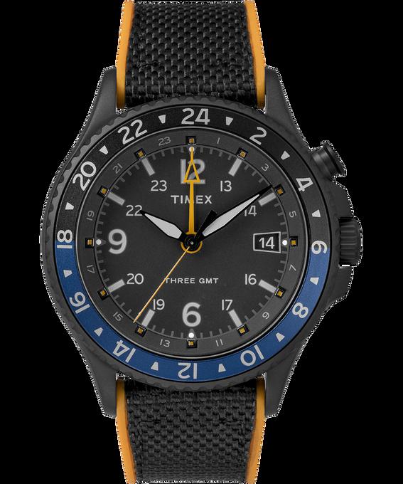 Allied Three GMT 43mm Silicone Strap Watch