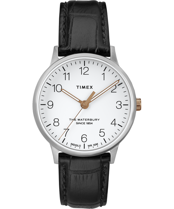 Waterbury 36mm Classic Leather Strap Watch