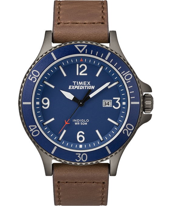 Expedition Ranger 43mm Leather Watch