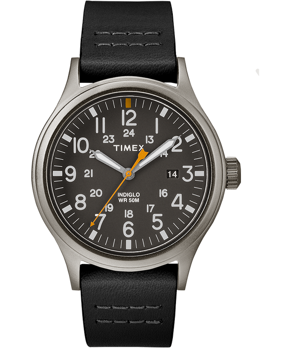 Allied 40mm Leather Watch