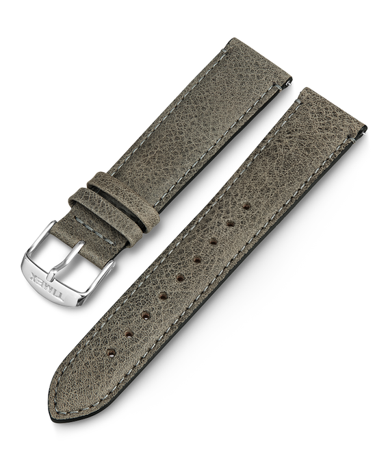 20mm iQ Light Grey Leather Strap