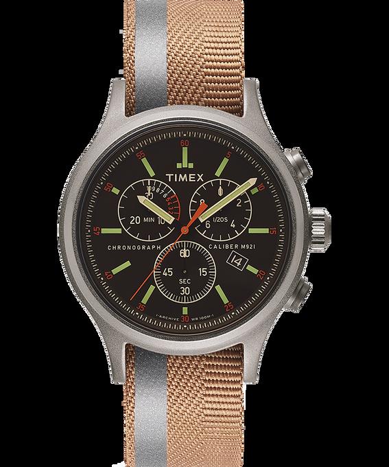 Zegarek Allied Chronograph z kopertą 42 mm i dwustronnym paskiem materiałowym z detalem odblaskowym