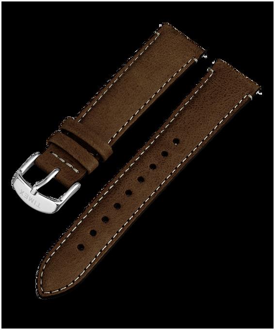 20mm iQ Dark Brown Leather Strap