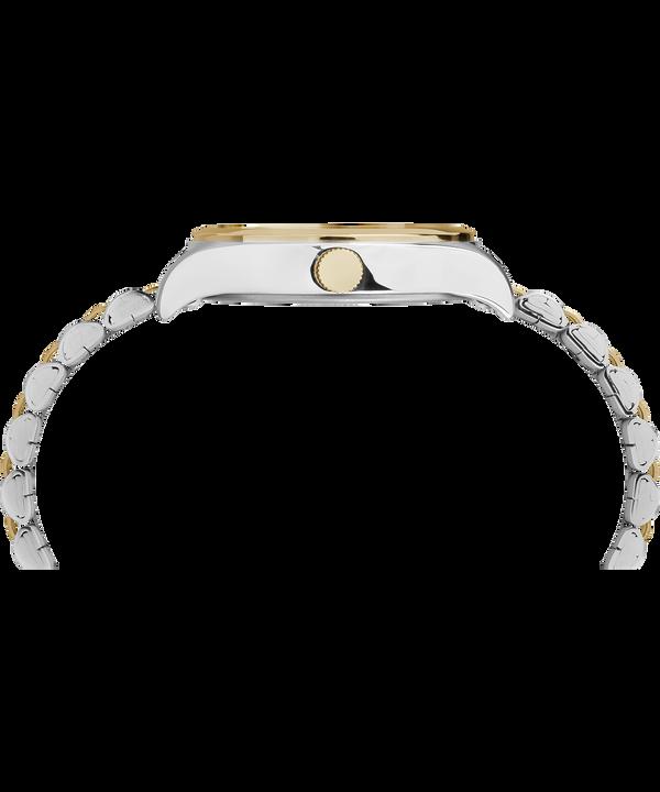 Zegarek Waterbury Womens z kopertą 34 mm i stalową bransoletą Two-Tone/White large