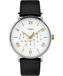 Zegarek Southview 41 mm z chronografem i paskiem skórzanym Chromowanyowany/Czarny/Biały/Złoty large