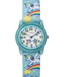 Kids Analog Strap Watch with Pattern Blue/White large