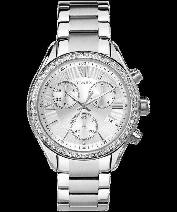 Zegarek Miami z kryształkami Swarovski®, kopertą 38 mm oraz bransoletką Stainless-Steel/Silver-Tone large