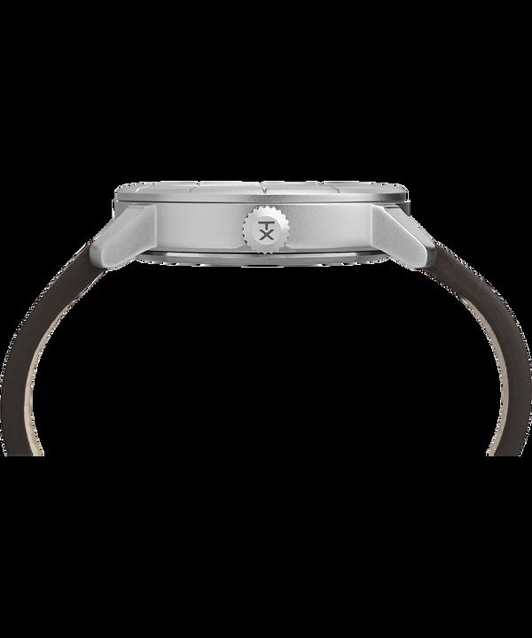 Zegarek Mod44 z kopertą 44 mm i skórzanym paskiem  Chrome/Brown/Blue large
