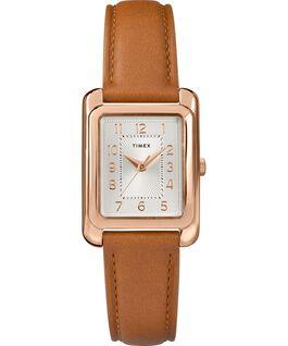 Zegarek Meriden 25 mm ze skórzanym paskiem Różowe złoto/Jasnobrązowy/Srebrny large