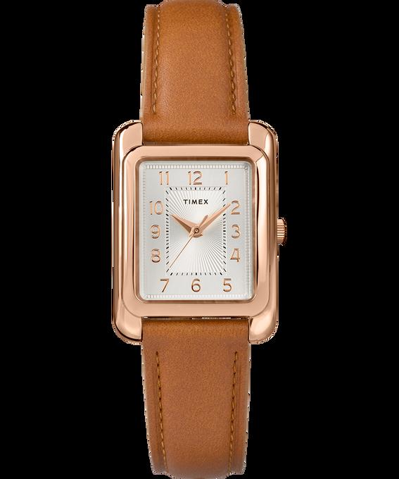 Zegarek Meriden 25 mm ze skórzanym paskiem W kolorze różowego złota/Jasnobrązowy/W kolorze srebra large