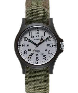 Zegarek Acadia z kopertą 40 mm i paskiem materiałowym Zielony large
