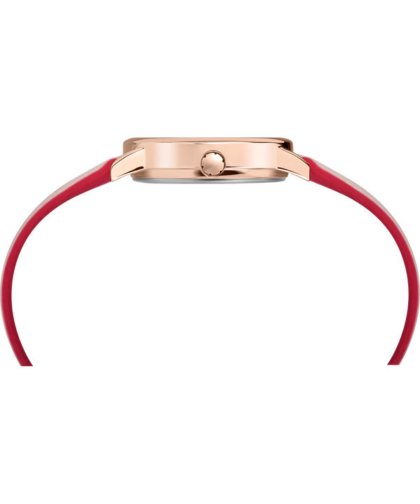 Zegarek Easy Reader Color Pop z kopertą 30 mm i skórzanym paskiem Rose-Gold-Tone/Pink/Cream large