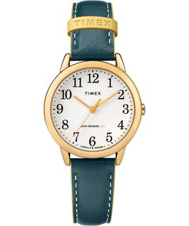 Easy-Reader-30mm-Exclusive-Color-Pop-Leather-Womens-Watch Złoty/Niebieski/Biały large