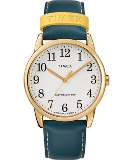 Easy-Reader-38mm-Exclusive-Color-Pop-Leather-Womens-Watch Złoty/Niebieski/Kremowy large
