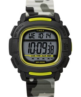 BST 47mm Silicone Strap Watch Black/Camo large