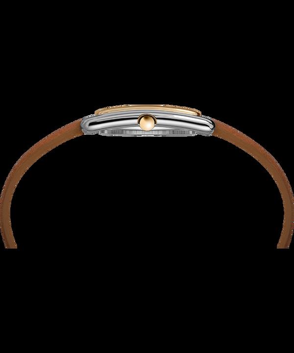 Zegarek Meriden 25 mm ze skórzanym paskiem Bicolor/Brązowy/Srebrny large