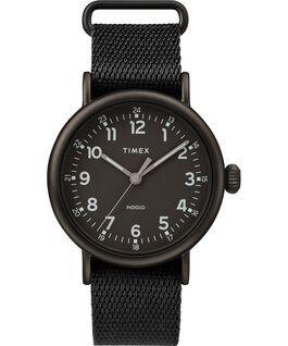 Zegarek Standard z kopertą 40 mm i paskiem materiałowym Czarny large