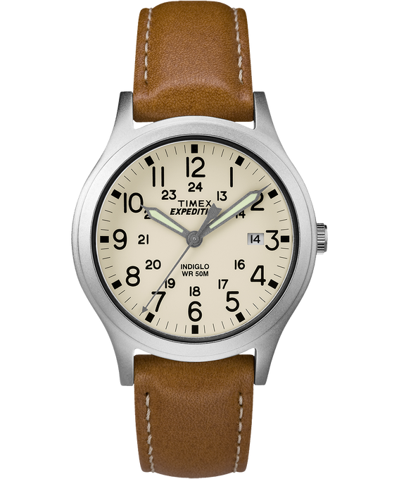 Expedition Scout Midsize 36mm Leather Watch