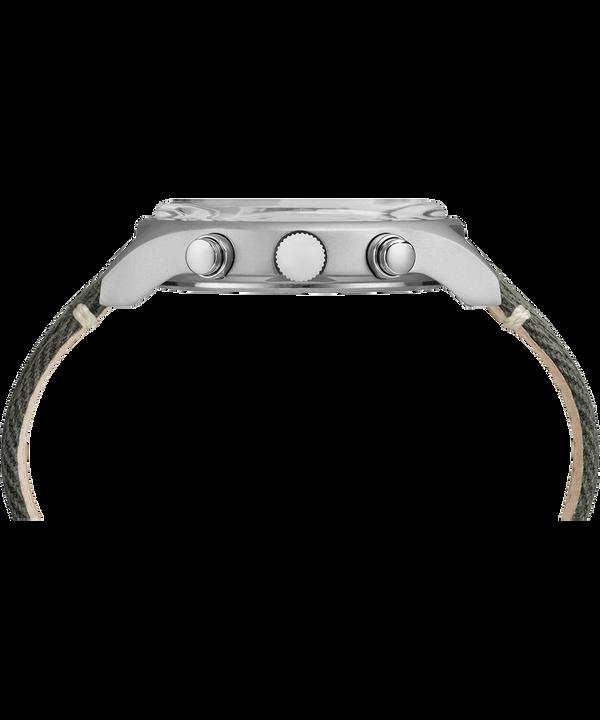 Zegarek MK1 z chronografem, stalową kopertą 42 mm i paskiem materiałowym Stainless-Steel/Green large