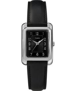 Zegarek Meriden 25 mm ze skórzanym paskiem Chromowanyowy/Czarny large