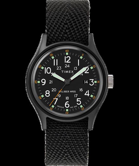 Zegarek MK1 z kopertą 40 mm i paskiem materiałowym Black/Black large