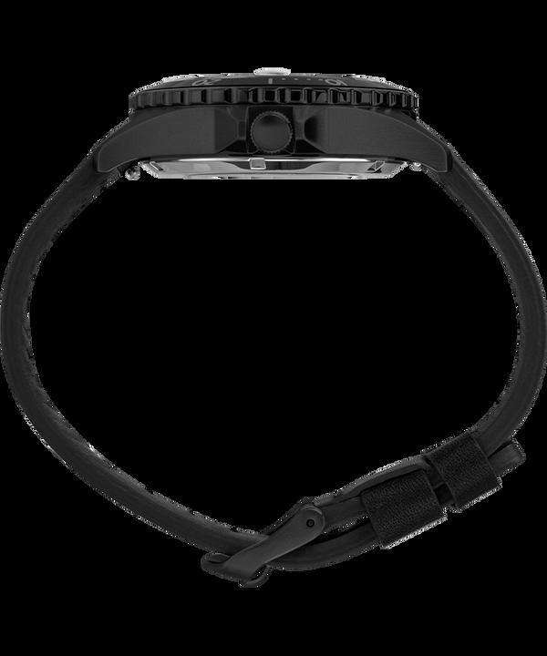 Zegarek Navi XL Automatic 41 mm z paskiem skórzanym Stal nierdzewna/Niebieski/Czarny large