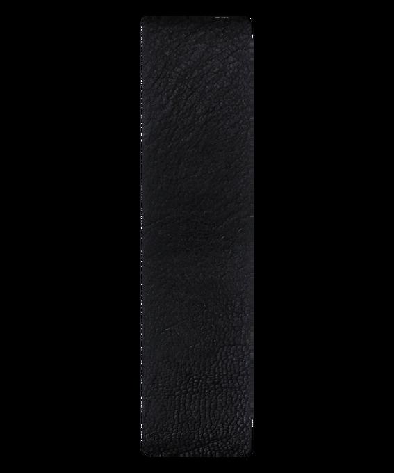 Skórzany pasek przewlekany, czarny / z brązową krawędzią  large