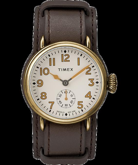 Zegarek Welton z kopertą 38 mm i skórzanym paskiem Metaliczny brąz/Brązowy/Kremowy large