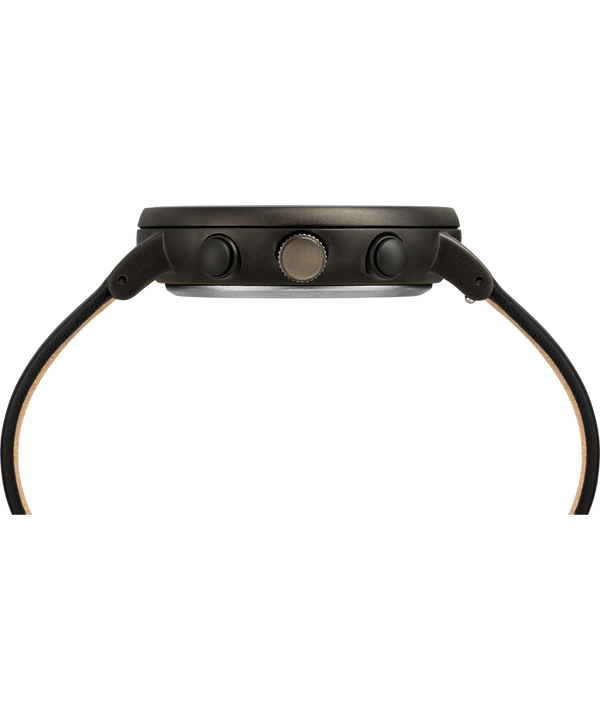 Fairfield Chronograph Supernova™ 41mm Leather Strap Watch Black/Black large