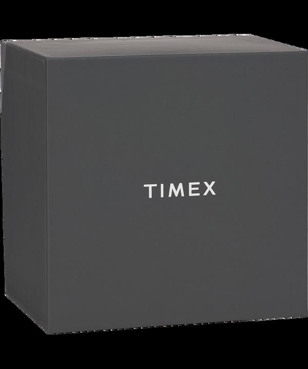 Zestaw podarunkowy: zegarek Weekender z kopertą 40 mm i skórzanym paskiem Chromowany/Brązowy/Kremowy large