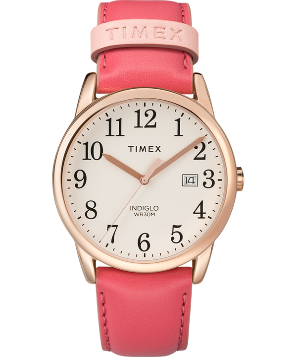 Easy Reader Color Pop 38mm Leather Strap Watch  large