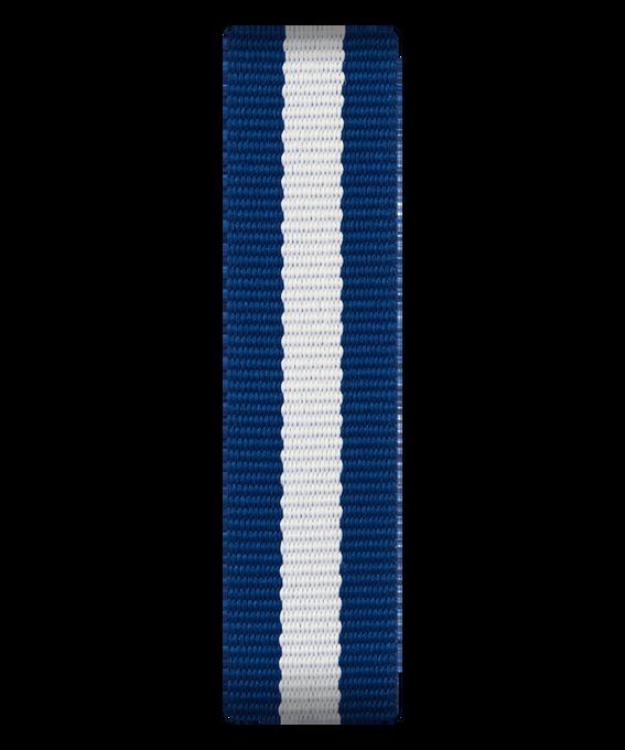 Niebiesko-biały nylonowy pasek przewlekany  large