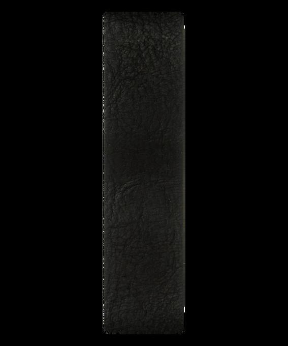 Czarny skórzany pasek przewlekany  large