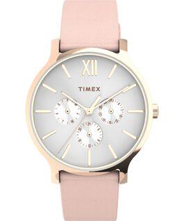 Zegarek Transcend Multifunction 38 mm z paskiem skórzanym Różowe złoto/Różowy/Biały large