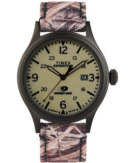 Timex x Mossy Oak Expedition Scout 40mm Fabric Strap Watch Black/Brown/Green large