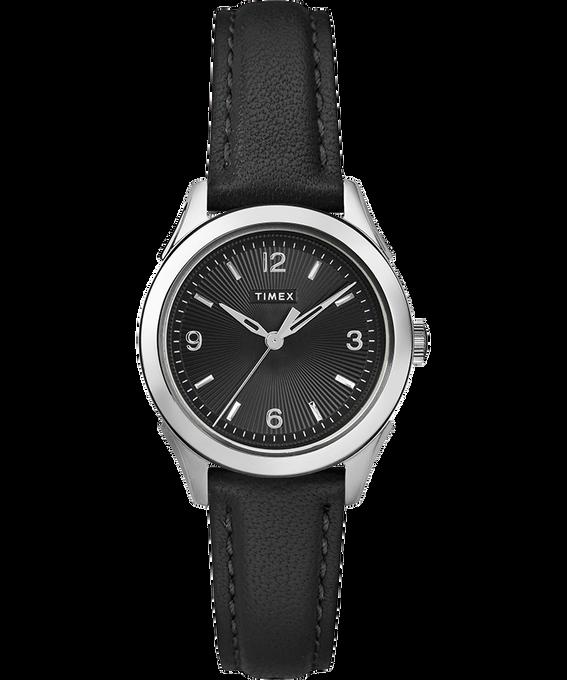 Damski zegarek Torrington z 3 wskazówkami, kopertą 27 mm i skórzanym paskiem Stal nierdzewna/Czarny large
